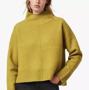 All Saints Orsa merino wool funnel neck sweater